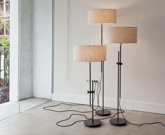 The workstead design shop industrial lighting furniture jewelry shaded floor lamp aloadofball Gallery