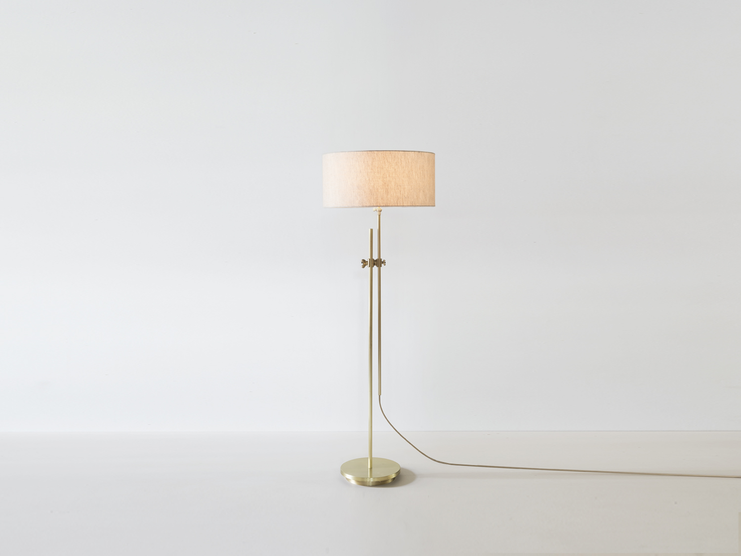 Workstead lighting shaded brass floor lamp next aloadofball Gallery